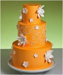 Orange Flower Chocolate Cake