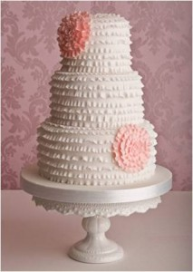 Pretty Wedding Chocolate Cake